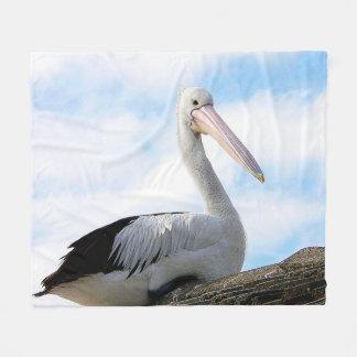 ペリカンの鳥のフリースブランケット フリースブランケット