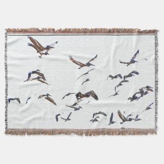 ペリカンの鳥のブランケット スローブランケット