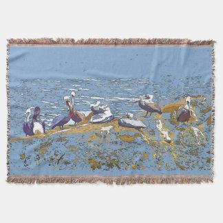 ペリカンの鳥の芸術毛布 スローブランケット