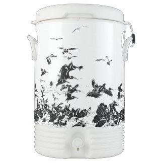 ペリカンの鳥の野性生物動物のビーチの海 ドリンククーラー