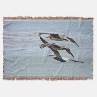 ペリカンの鳥の野性生物動物のビーチ毛布 スローブランケット