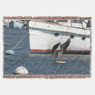 ペリカンの鳥の野性生物動物の海 スローブランケット
