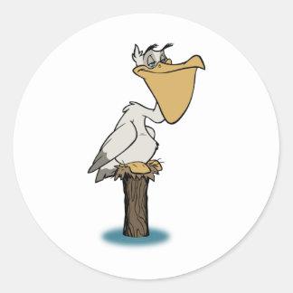 ペリカン-鳥の救助 ラウンドシール