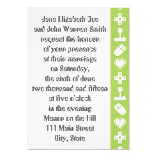 ペリドットの結婚式招待状の複数競技者用モード カード