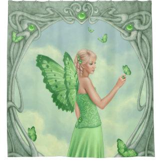 ペリドットのBirthstoneの妖精緑 シャワーカーテン
