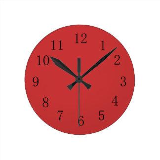 ペルシャの赤い台所柱時計 ラウンド壁時計