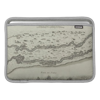 ペルシャ湾の旧式な地図 MacBook スリーブ