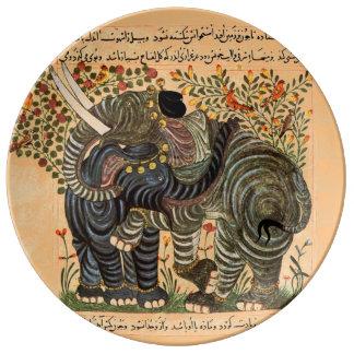 ペルシャ象のプレート 磁器プレート
