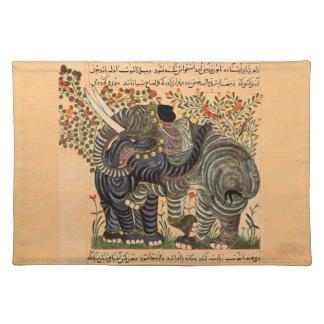 ペルシャ象のランチョンマット ランチョンマット