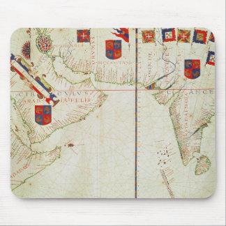 ペルシャ、アラビアおよびインドの地図 マウスパッド