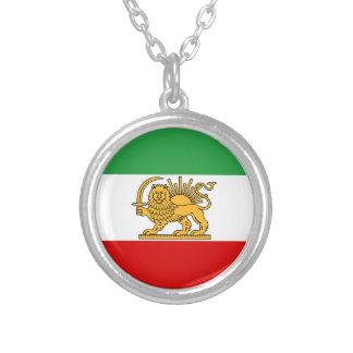 ペルシャ/イラン(1964-1980年)の旗 シルバープレートネックレス