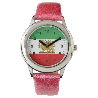 ペルシャ/イラン(1964-1980年)の旗 腕時計