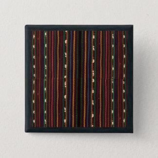 ペルーのインカ人の編むデザインは縞で飾ります 缶バッジ