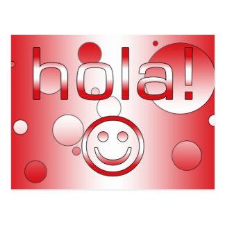 ペルーのギフト: こんにちは/Hola + スマイリーフェイス ポストカード