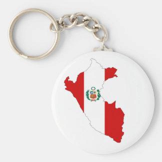 ペルーの国旗の形の地図の記号 キーホルダー