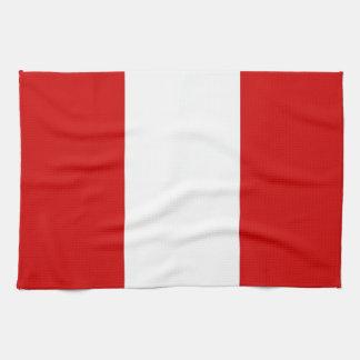 ペルーの国旗タオル キッチンタオル