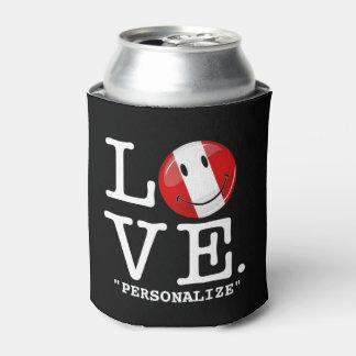 ペルーの微笑のペルーの旗からの愛 缶クーラー