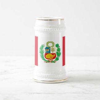 ペルーの旗が付いているマグ ビールジョッキ