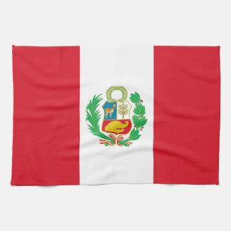 ペルーの旗が付いている台所タオル キッチンタオル