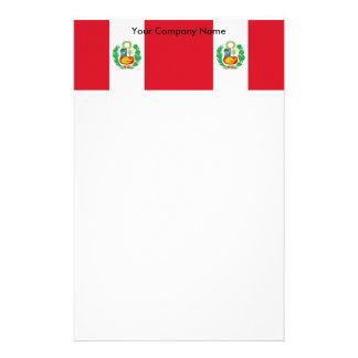 ペルーの旗が付いている文房具 便箋