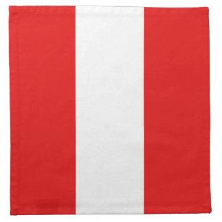 ペルーの旗のナプキン ナプキンクロス