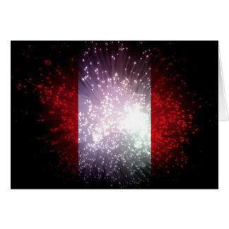 ペルーの旗の花火 カード
