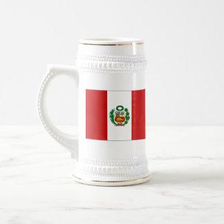 ペルーの旗の~の地図のマグ ビールジョッキ