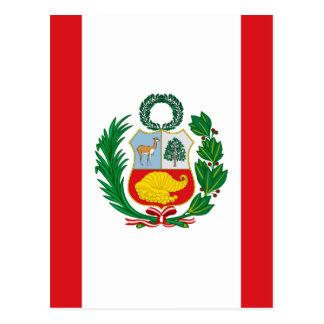 ペルーの旗 ポストカード