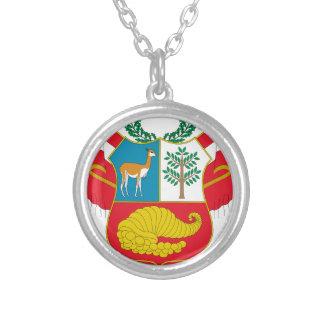 ペルーの紋章付き外衣 シルバープレートネックレス