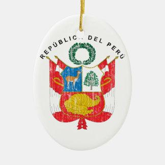 ペルーの紋章付き外衣 セラミックオーナメント