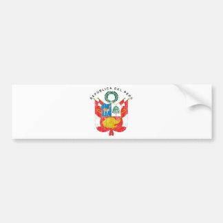 ペルーの紋章付き外衣 バンパーステッカー