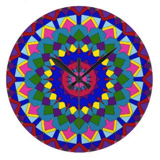ペルーは万華鏡のように千変万化するパターンを着色します ラージ壁時計