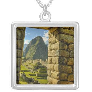 ペルー、アンデス、アンデス山、Machu Picchu、 シルバープレートネックレス