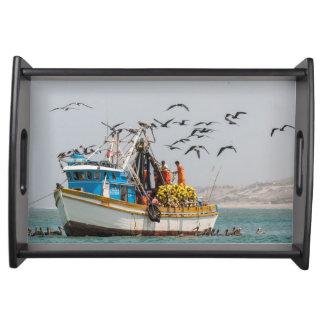 ペルー、Los Organos。 Los Organosの漁船 トレー
