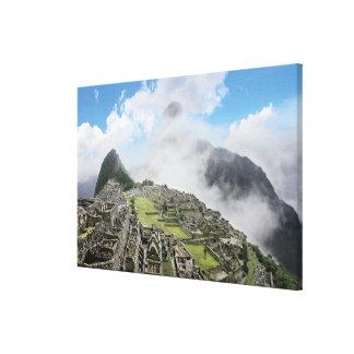 ペルー、Machu Picchuの古代無くなった都市の キャンバスプリント
