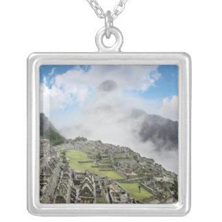 ペルー、Machu Picchuの4の古代無くなった都市 シルバープレートネックレス