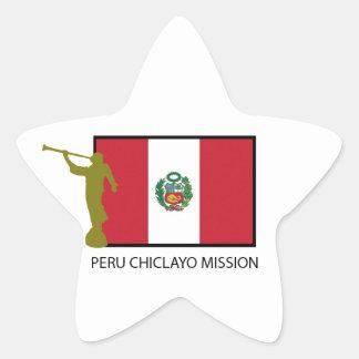 ペルーCHICLAYOの代表団LDS CTR 星シール