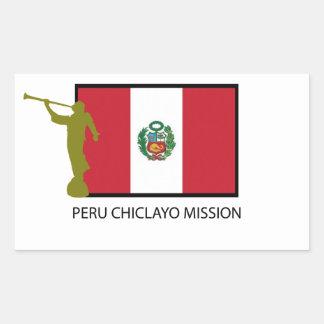 ペルーCHICLAYOの代表団LDS CTR 長方形シール