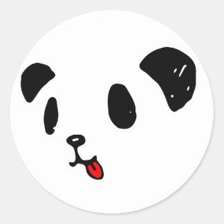 ペロリなパンダ 丸形シールステッカー