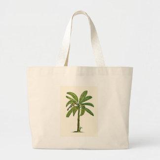 ペンとインクバナナの木 ラージトートバッグ