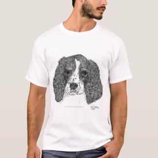 ペンとインク英国のスプリンガースパニエルの子犬 Tシャツ