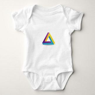ペンのばら色の三角形 ベビーボディスーツ
