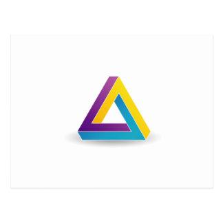 ペンのばら色の三角形 ポストカード
