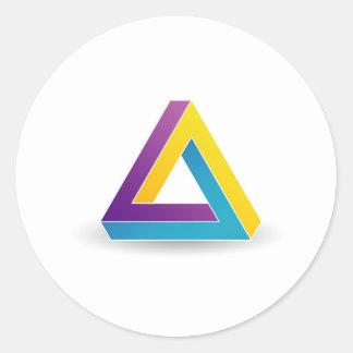 ペンのばら色の三角形 ラウンドシール