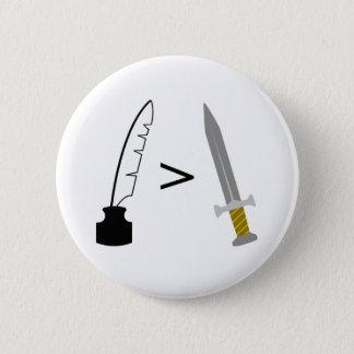 ペンは剣より強大です 缶バッジ