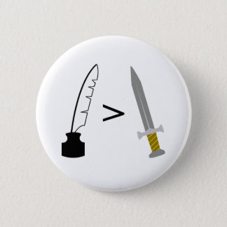 ペンは剣より強大です 5.7CM 丸型バッジ