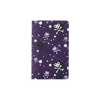 ペンキが付いている暗い色のEmoパターン ポケットMoleskineノートブック
