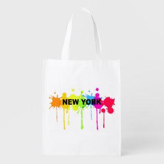 ペンキのはねのニューヨークのバッグ エコバッグ
