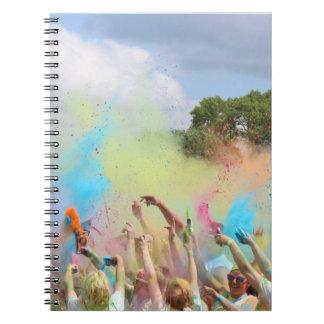 ペンキのフェスティバル ノートブック