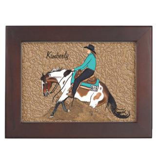 ペンキの制止の馬の記念品箱 ジュエリーボックス